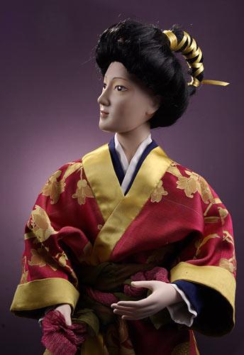 Фарфоровая кукла «Японский юноша»